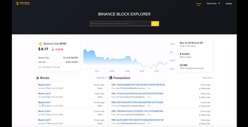 Binance DEX Video, Block Explorer